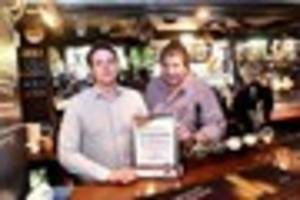 cheers to that! staffordshire pub dating back to middle ages...