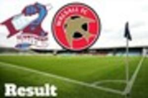 scunthorpe united 0-0 walsall result: iron held at home