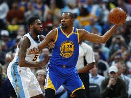 Nuggets tie NBA mark with 24 3s in 132-110 win over Warriors