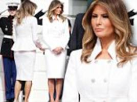 melania trump makes first official white house appearance