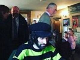 prince charles inadvertently photobombs kasabian guitarist