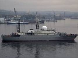 Russian spy ship spotted 30 miles from a US Naval base