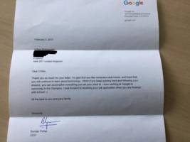 a 7-year-old girl asked google for a job — and got a personal response from ceo sundar pichai (googl, goog)