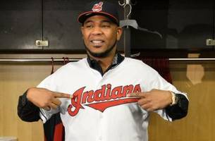 Indians' Edwin Encarnacion staged a romantic proposal on Valentine's Day
