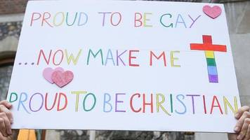 Protests as Church of England debates gay marriage