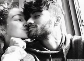 gigi hadid and zayn malik show their plain faces in this sweet pic on valentine's day