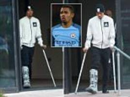 Manchester City star Gabriel Jesus steps out of hotel
