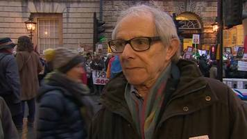 director ken loach joins hundreds in bath library move plan protest