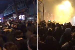 fear spreads across paris as riots in suburbs over black man 'raped by police' spills into city centre