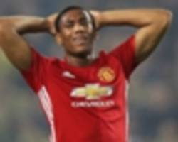 Red card? Martial draws blood from Malcuit after flailing arm catches Saint-Etienne star