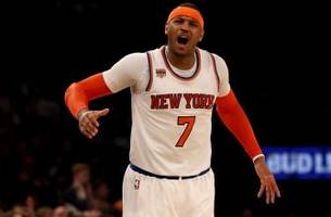 Report: Carmelo Anthony to replace Kevin Love on All-Star team