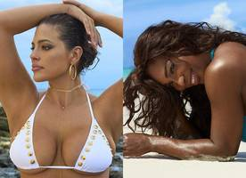 ashley graham is back for si swimsuit issue, serena williams wears thong bikini for the first time