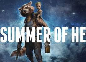 see brand new image of rocket raccoon and baby groot in 'guardians of the galaxy vol. 2'