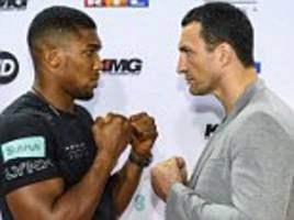 Anthony Joshua to be 'killer' against Wladimir Klitschko
