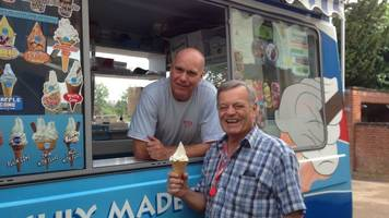 Reading man is Ice Cream Man of the Year