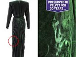 handprints of princes william and harry on diana's dress