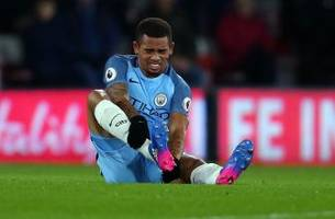 gabriel jesus could miss the rest of manchester city's season, guardiola says