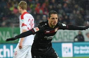 watch: chicharito stays hot with another goal for leverkusen