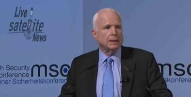 mccain tells european elite trump administration is in disarray