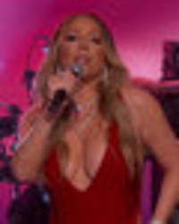 mariah carey makes boobylicious return to live tv after disastrous new year's eve show