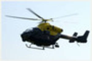 Police helicopter called in after man steals till from takeaway...