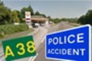 A38 closed this morning following serious crash last night ...