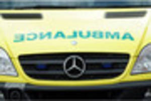 man left hospitalised after his moped crashes into back of van