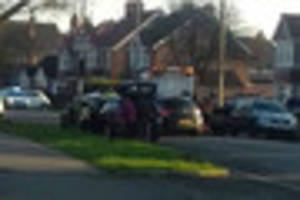 Woman driver crashes into parked cars and blocks road in Skegness
