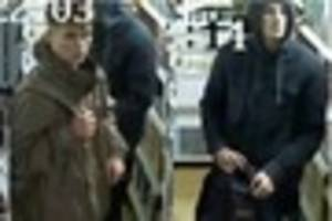 CCTV shows two men wanted in connection with robbery on Bruton...