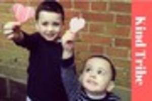 Meet the mum and her little boys spreading kindness around...