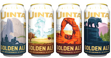 new beer can series from uinta brewing commemorates national parks