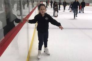 This 10-year-old with cerebral palsy is learning to skate