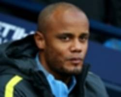 'i don't think it's anything serious' - man city boss guardiola plays down kompany injury fears
