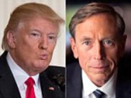 david petraeus won't be trump nsa