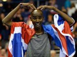 Mo Farah bows out of indoor athletics by breaking record