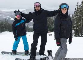 David Beckham and Victoria Enjoy Snowboarding as Son Brooklyn Breaks His Collarbone After Nasty Fall