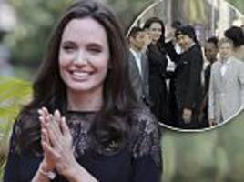 angelina jolie promotes first they killed my father