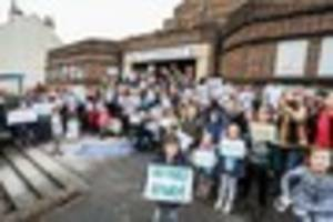 Protesters oppose closure of 'vital' Jubilee Swimming Pool used...