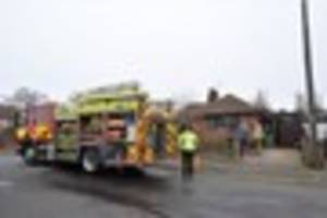 Firefighters tackle bungalow blaze in Braunstone Town