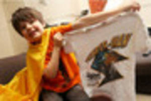 thunder-man to the rescue with snazzy t-shirts to help the...