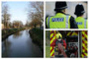 Firefighters pull man to safety from River Welland, Spalding