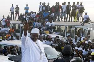 gambia's new president marks inauguration as nation cheers