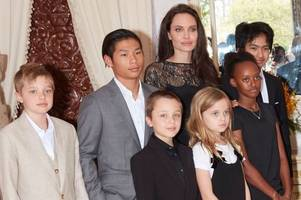 angelina jolie, supported by her children, makes first red carpet appearance since brad pitt split