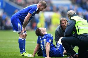 cardiff city rhys healey sidelined for 'at least nine months' after horrendous double ligament injury