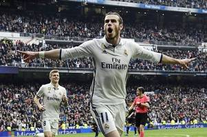 Gareth Bale returns to action for Real Madrid and scores a trademark goal after just 13 minutes