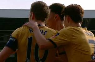 harry kane scores the opening goal against fulham | 2016-17 fa cup highlights