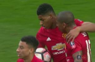 marcus rashford gets the equalizer for manchester united | 2016-17 fa cup highlights