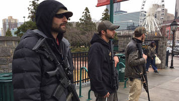 Trump Supporters Rally In Downtown Atlanta With Semi-Automatic Weapons