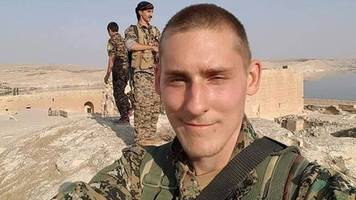 hero's welcome for briton ryan lock killed fighting is in syria
