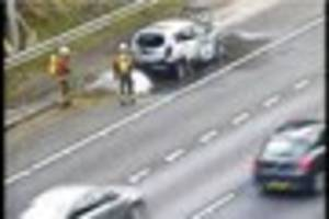 part of m1 closed between j26 and j25 near derby due to incident